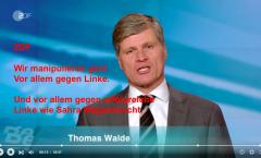 Die Manipulationen des ZDF gegen Linke haben Tradition. Diesmal (erneut) gegen Sahra Wagenknecht